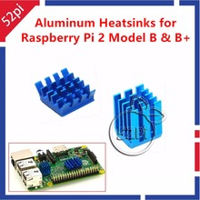 1 Set 2pcs Raspberry Pi Heatsinks Cooler Aluminum With Adhesive Heat Sink Set Kit For Cooling Raspberry Pi 3/2 Model B & B+