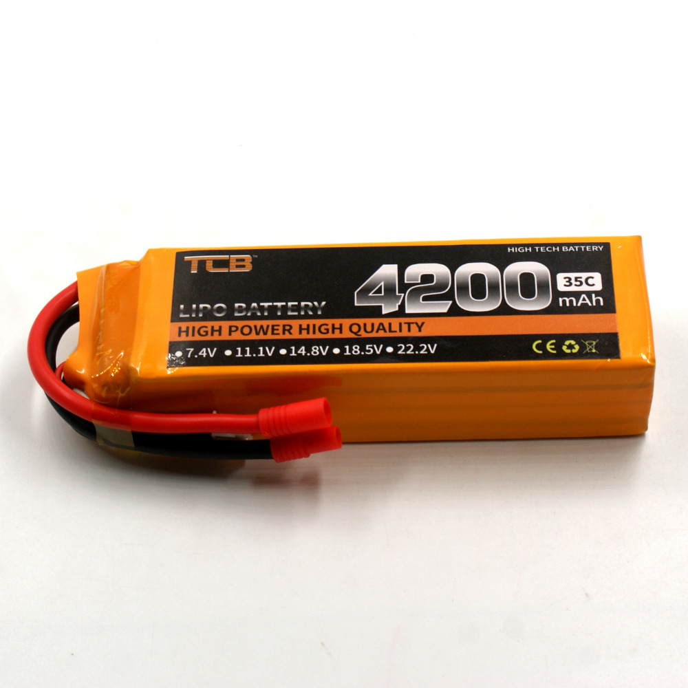 TCB RC toys lipo battery 18.5V 4200mAh 35C 5s for rc airplane Drones Quadrotor batteria 5s T/XT60 plug 1s 2s 3s 4s 5s 6s 7s 8s lipo battery balance connector for rc model battery esc