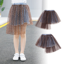 Big Girl Leopard Skirts Girls Kids Fashion Denim Kid Tutu Skirt Children Clothing Toddler Clothes Baby 10 Years Mesh toddler baby girl party pageant pu leather pencil skirt zipper biker skirt kid girls skirts clothes