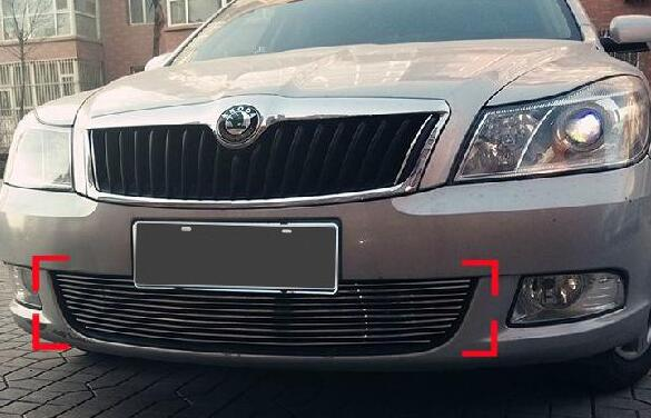 High quality stainless steel Front Grille Around Trim Racing Grills Trim For 2010-2014 Skoda Octavia abs chrome front grille around trim racing grills trim for 2013 hyundai santa fe ix45