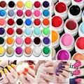 Nueva Llegada 36 colores metallic color Puro Del Clavo de UV Gel Polaco Para Nail Art Tips Manicura Extensión Solid Venta Caliente