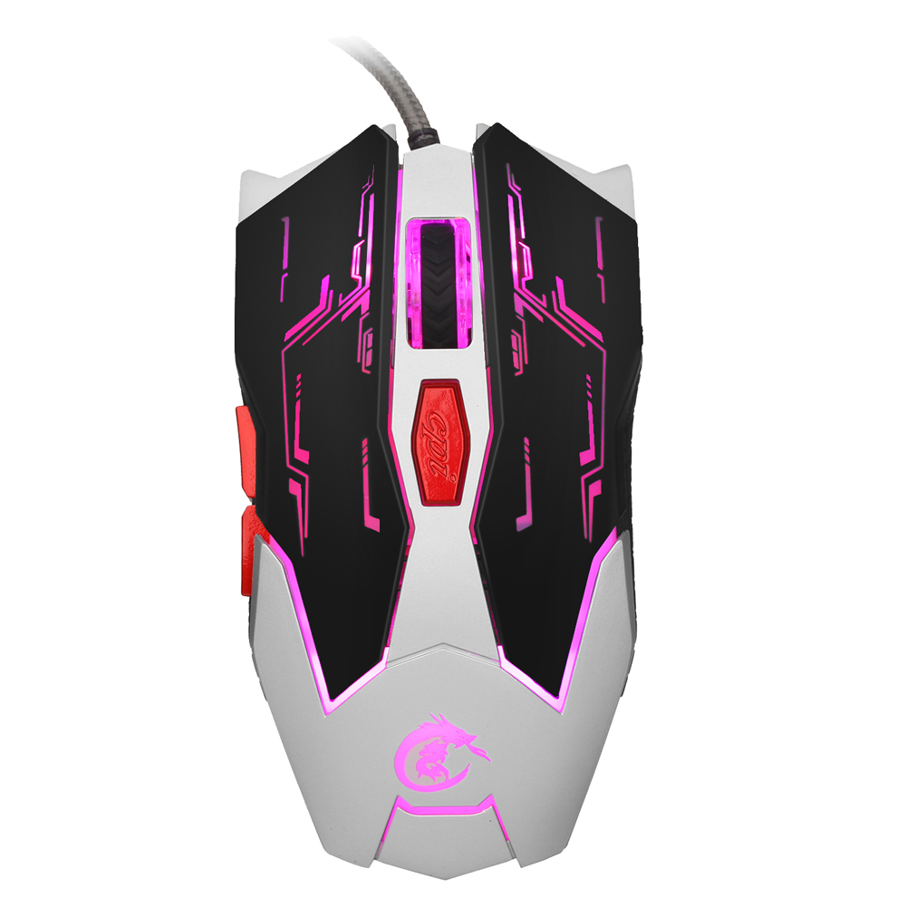 USB Wired LED Backlit Gaming Mouse 2500DPI 6 Programmable Buttons Ergonomics Opitical Mouse For Mac PC Laptop Game LOL Dota