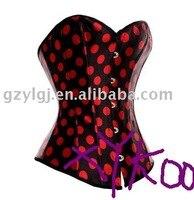 Sexy Lingerie Ladies Satin Lace Up Basque Corset  Black Red  S-XL am2607