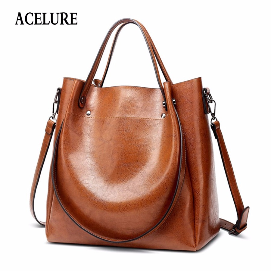 Capable Messenger Bags Large Capacity Women Shoulder Bags Female Trunk Tote Bolsos Famous Designers Leather Handbags Top-handle Bags Back To Search Resultsluggage & Bags