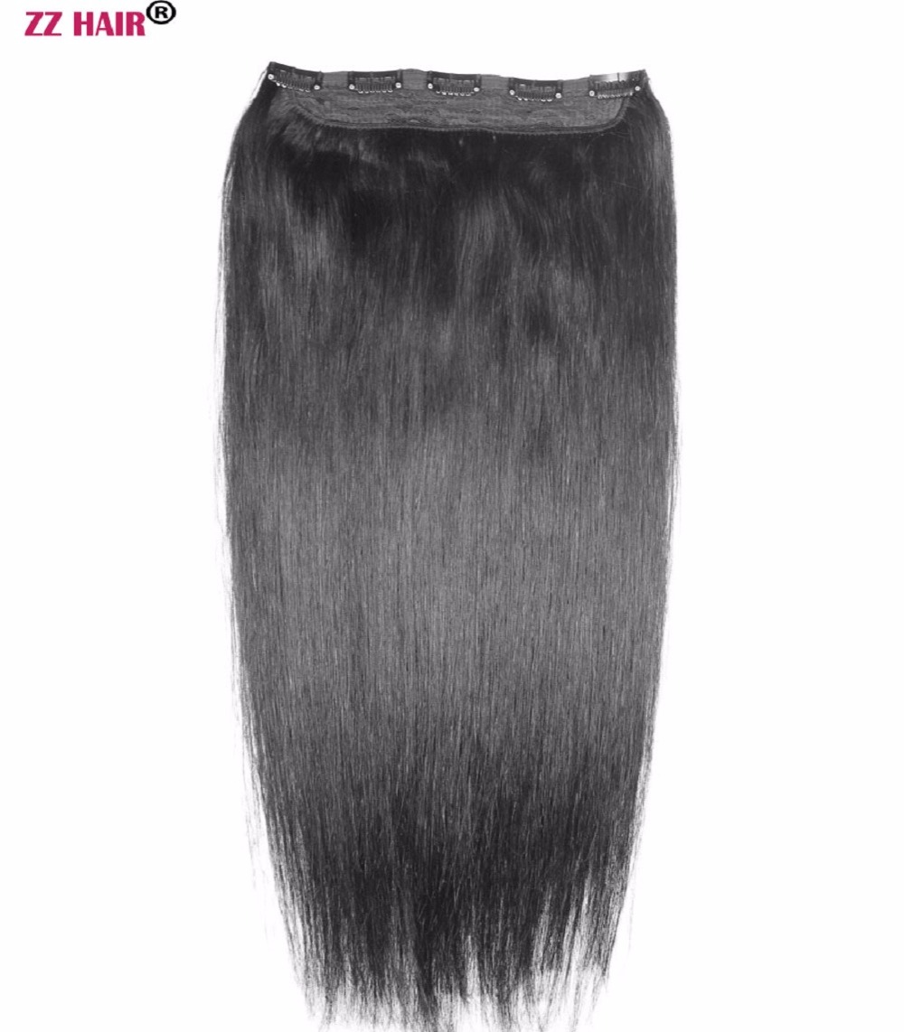 ZZHAIR 16 28 100 Brazilian Hair 5 Clips In Human Remy Hair Extensions 1Pcs 120g One