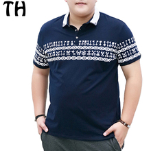 2016 Personalized Comfortable Short Sleeve Print Summer Polo Men Shirts Casual Tops 4XL 5XL 6XL Plus Size Polo Homme
