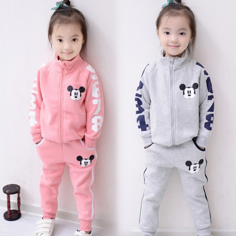 2018 child lady boy clothes units Autumn youngsters's clothes Mickey child boys tracksuits units 100% cotton sweatshirts+trousers child boy tracksuit, boy clothes set autumn, boys tracksuit,Low cost child boy...