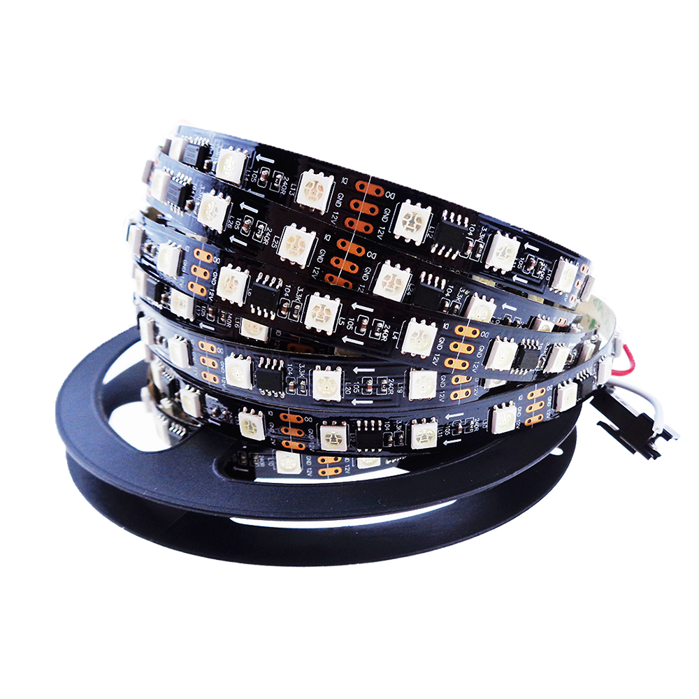 ws2811 Led Strip 5M IC Vedio show addressable individually ip30 waterproof  ip67 5050 RGB SMD 30 48 60 led/m 3 options fast JL