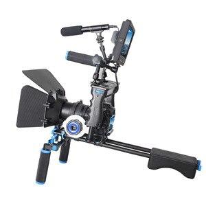 Image 4 - DSLR Rig Video Stabilizer Kit Film Equipment Matte Box+Dslr Cage+Shoulder Mount Rig+Follow Focus for DSLR Camera Camcorder