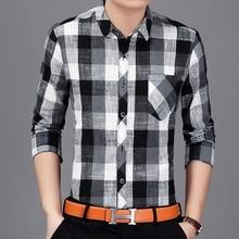 2017 Plaid Men Shirts Tailoring Slim Fit M-3XL Cotton Mens Dress Shirts Male Clothes Social Casual Shirt Men Brand
