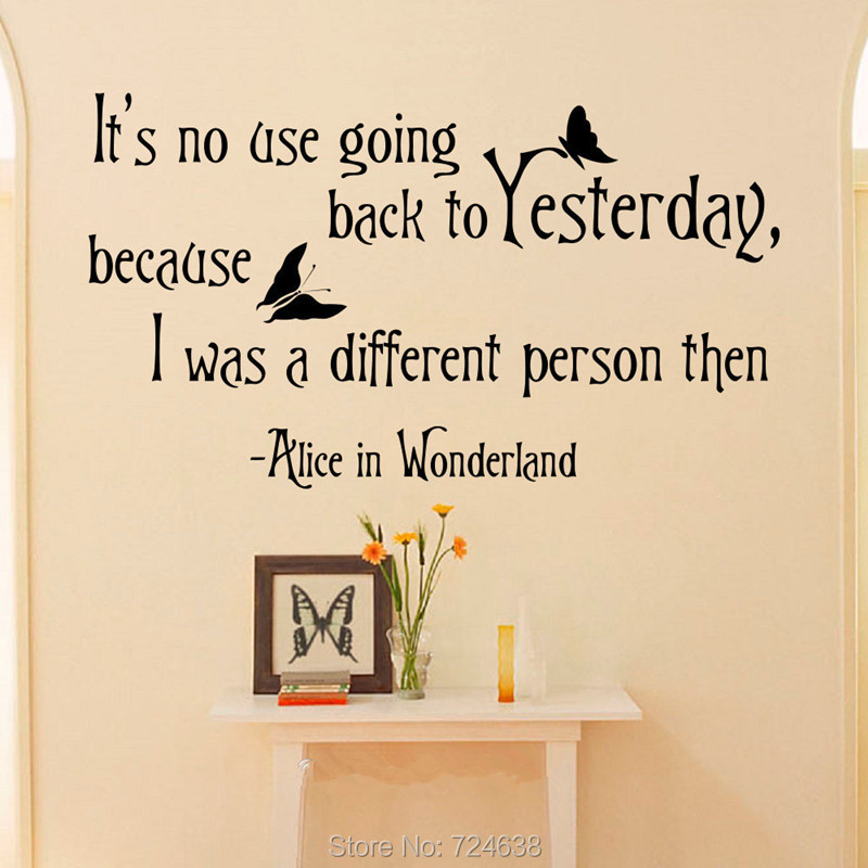 Disney Alice In Wonderland Quote: Hot Alice In Wonderland Quotes Wall Art Sticker Decal Home