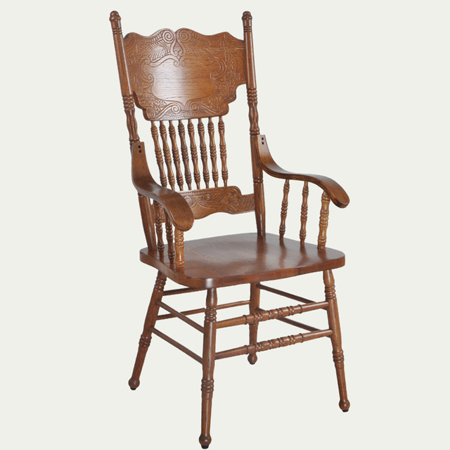 Armchair Wooden Luxury Home Furniture Oak Vintage Dining Chair Carved Back  Dining Room Dining Wooden Chair