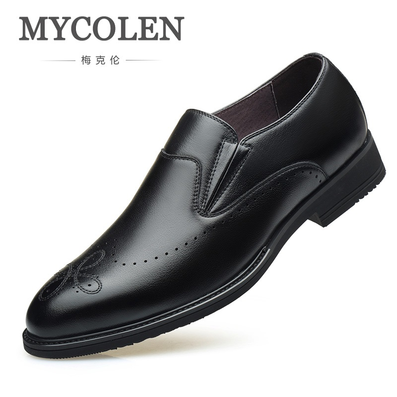 MYCOLEN Hot Sale Luxury Fashion Leather Shoes Casual High Quality Fashion Business Office Dress Men Shoes Chaussure Homme 2016 new hot sale straight business fashion denim good quality men jeans retail