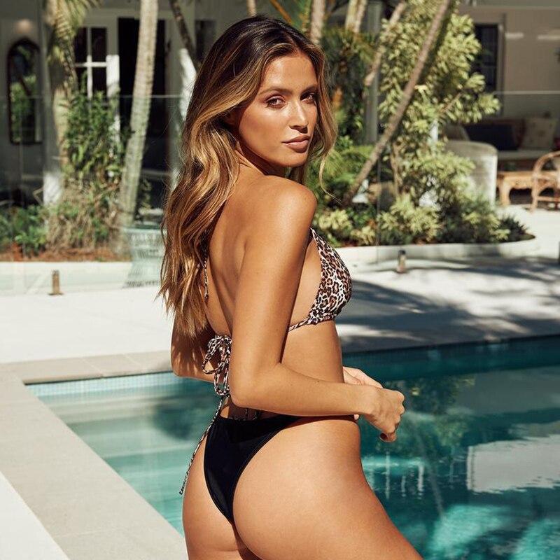 HTB1t ZeXHr1gK0jSZR0q6zP8XXav leopard swimwear women swimsuit brazilian thong bikini 2019 bathing suit women high waist bikinis push up swimming suit biquini