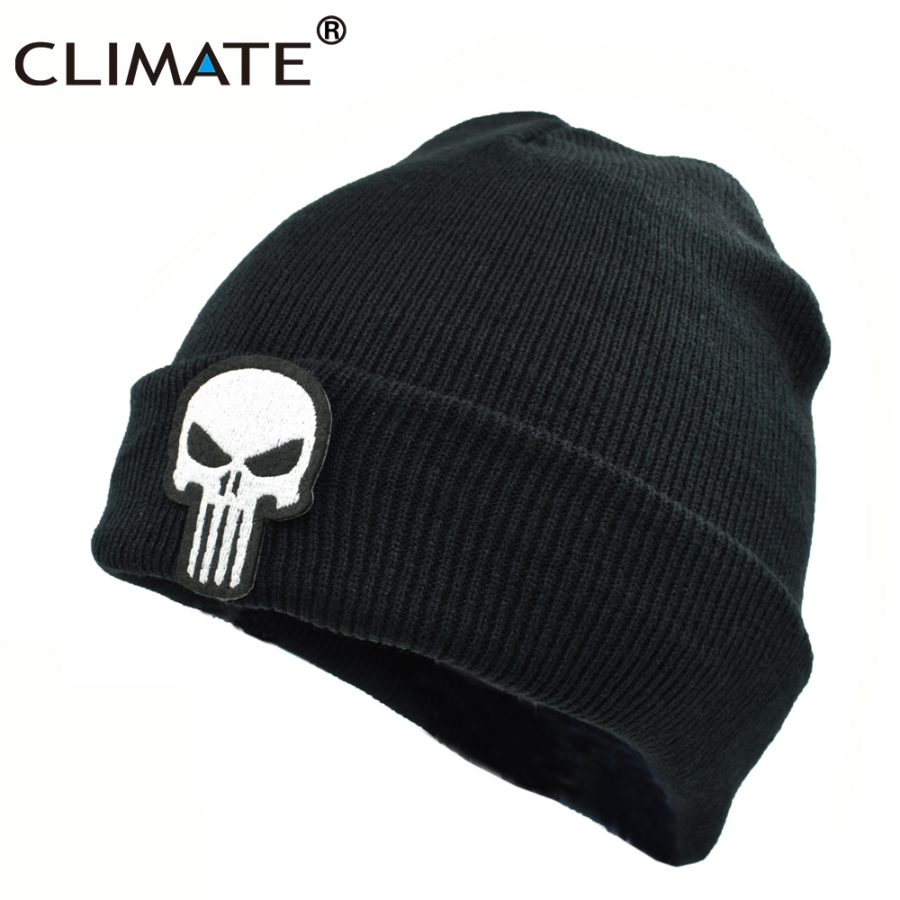 CLIMATE The Punisher Cool Black Skulls Winter Warm s