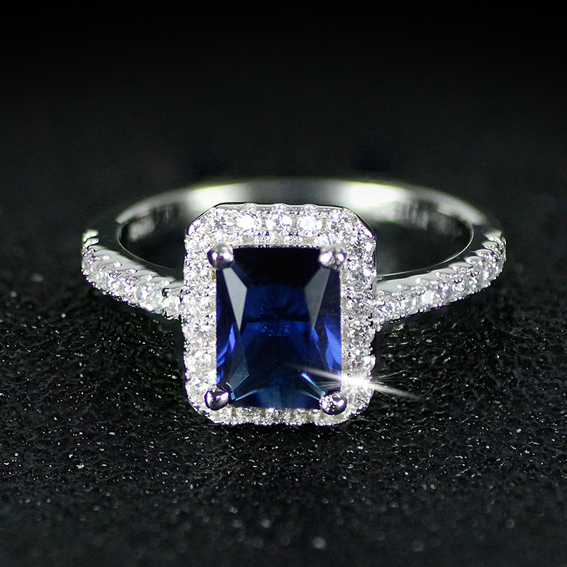 925 anillos de bodas de Compromiso de Plata Esterlina para Las - Bisutería - foto 4