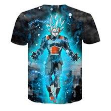 Dragon Ball DBZ Bulma Super Saiyan Vegeta T-shirt 3D Men Women Anime Kid Goku Goten Gohan T-shirt Harajuku Lonzo Ball Tee Shirts