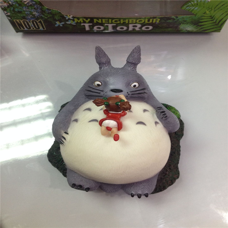ФОТО 2017 new anime totoro action figure toys kawaii 12cm totoro sleep state pvc model doll toys for children best christmas gifts