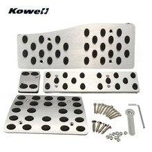 Kowell ноги топлива сцепные Педали для автомобиля плиты покрытие автомобиля педали для ног колодки для Mercedes-Benz W124 W140 W202 W203 w210 W211 W220