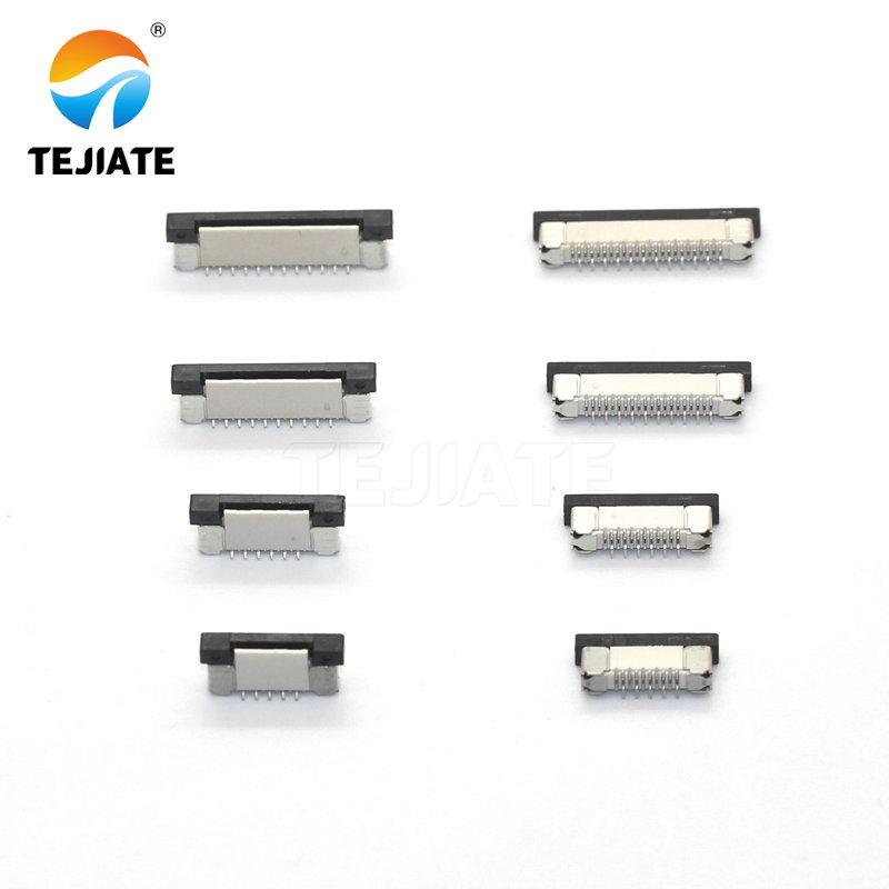 10pcs FFC FPC Socket 0.5mm 4/6/7/8/9/10/12/14/15/16/20/22/24/26/28/30/34/40/45/50/54/60 Pin Vertical Type Ribbon Flat Connector
