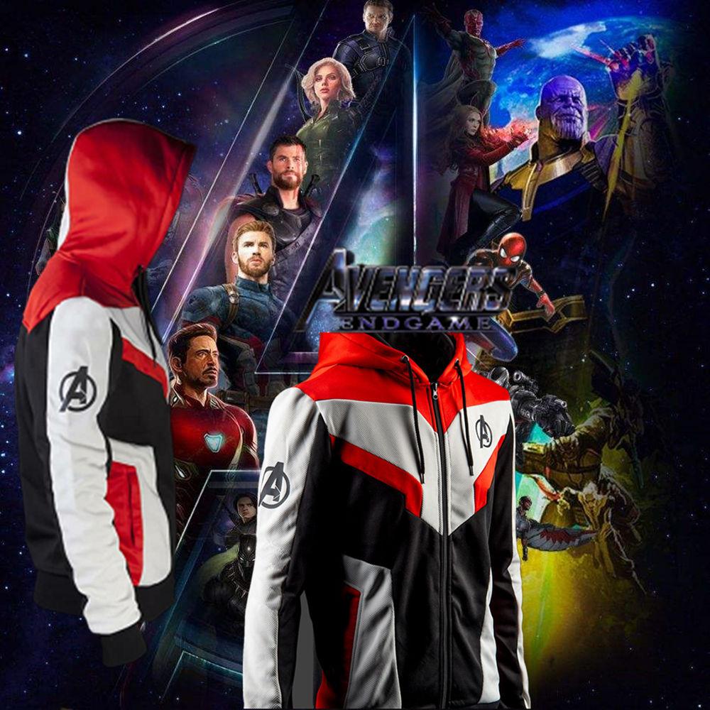 1:1 Kids Superhero Avengers Endgame Quantum Realm The Avengers 4 Jacket Sweatshirt Advanced Tech Hoodie Cosplay Costumes
