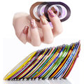 10 шт цвета красоты ногтей закатывает чередование линия ногтей советы украшения аксессуары для макияжа наклейки на ногти инструменты Kосметика дизайн ногтей все для маникюра