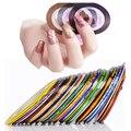 10 UNIDS Mixtos 10 Colores Rollos Trazado de Líneas de Cinta Del Arte Del Clavo Belleza Del Clavo Inclina La Decoración de Accesorios de Maquillaje Pegatina de Uñas Herramientas