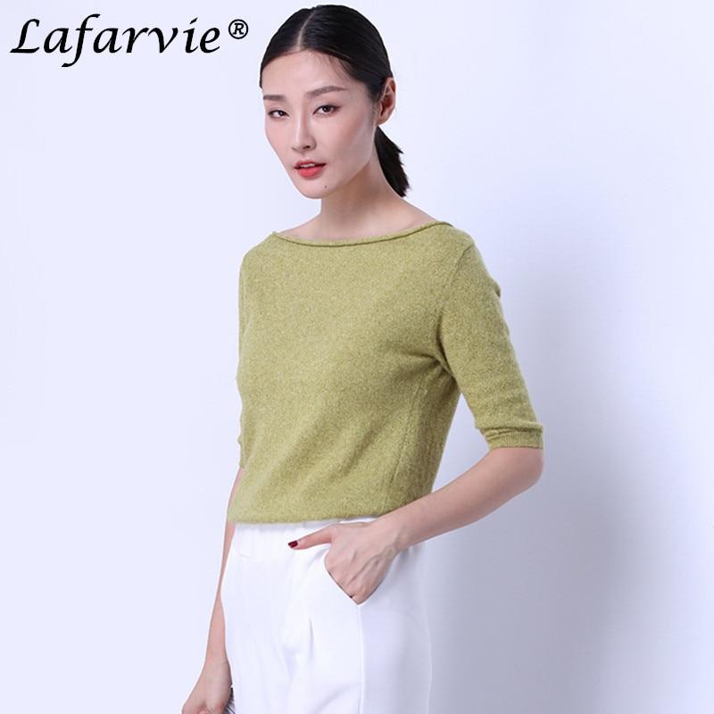 Lafarvie kwaliteit slanke sexy kasjmier gebreide trui vrouwen tops - Dameskleding - Foto 3