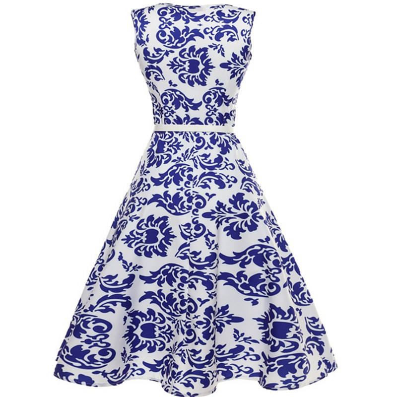 Կանացի կապույտ և սպիտակ ճենապակյա - Կանացի հագուստ - Լուսանկար 3