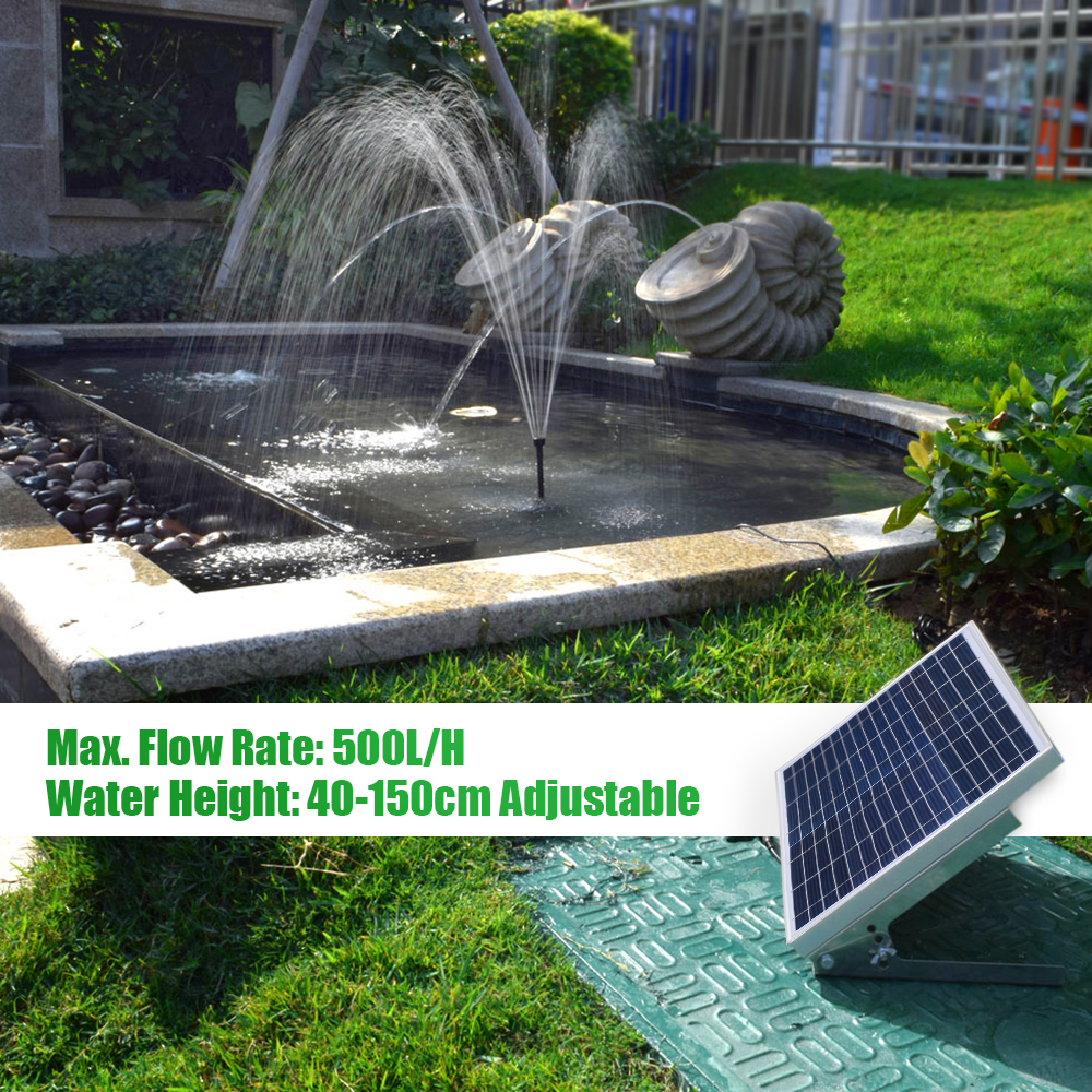 Panel Solar de fuente de energía Solar multifuncional + Kit de bomba de agua sin escobillas 3,6 W con batería de almacenamiento para jardín estanque de baño de pájaro-in Fuentes y bañeras de pájaros from Hogar y Mascotas    1