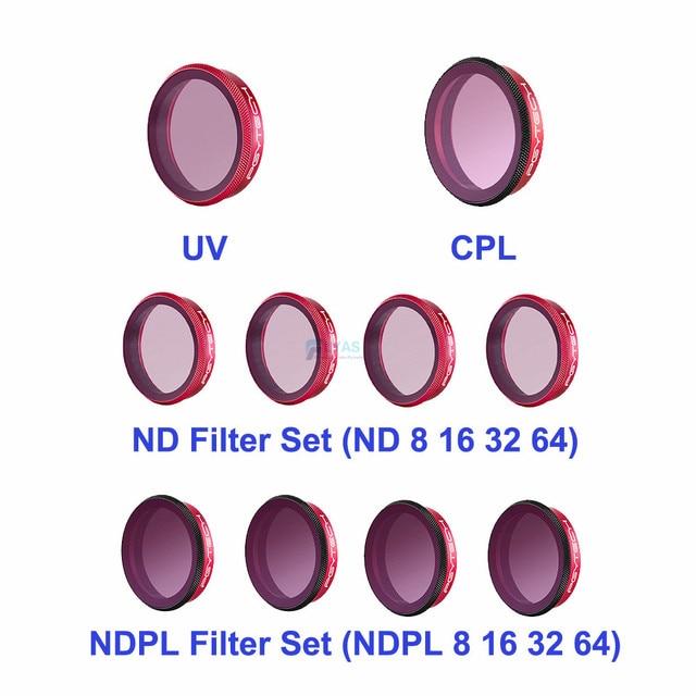 PGYTECH DJI Osmo Action Lens Filter Kit UV CPL ND8/16/32/64 ND8/16/ 32/64 PL Set Professionele versie Voor Sport Camera