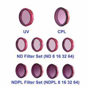 Image 1 - PGYTECH DJI Osmo アクションレンズフィルターキット UV CPL ND8/16/32/64 ND8/16/ 32/64 PL セットプロフェッショナルバージョンのためのスポーツカメラ