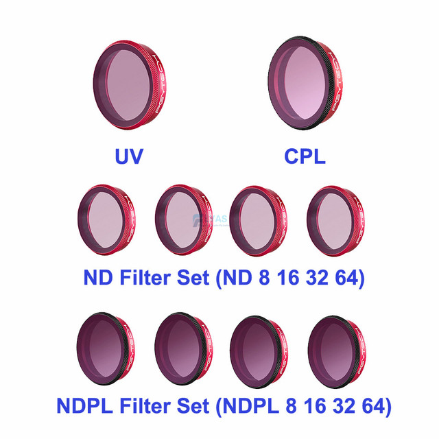 PGYTECH DJI Osmo アクションレンズフィルターキット UV CPL ND8/16/32/64 ND8/16/ 32/64 PL セットプロフェッショナルバージョンのためのスポーツカメラ