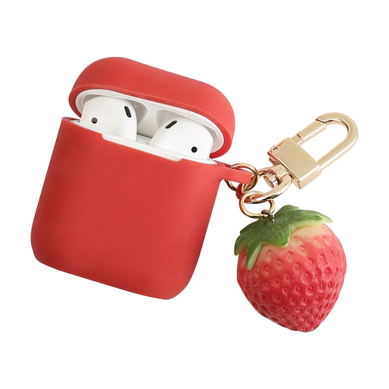 Strawberry Wireless Bluetooth Earphone Case For Apple AirPods Silicone Charging Headphones Cases For Airpods Protective Cover