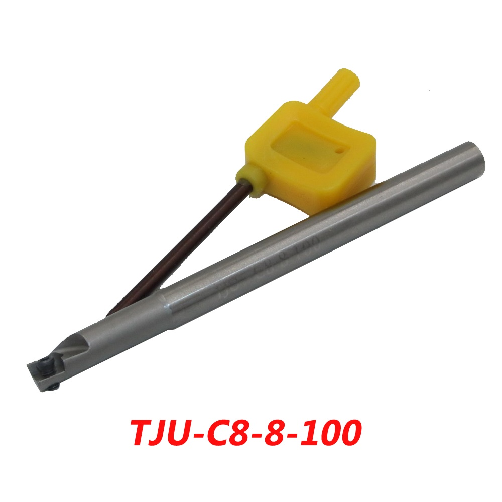 TJU-C8-8-100 Indexable Drilling And Milling Cutter Arbor For CCMT060204 Carbide Insert