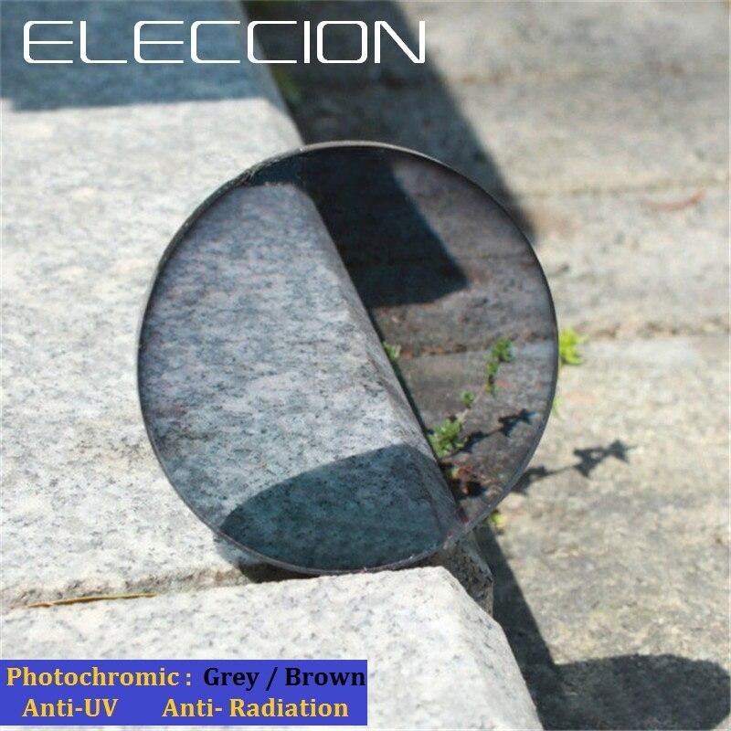 ELECCION 1.61 Alto Indice Fotocromatiche Lenti Monofocali Asferiche Lenti Graduate Anti-Radiation & UV di Colore Cambiare Rapidamente 2