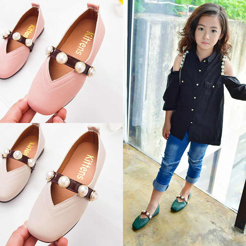 kids shoes for girl 2019 spring autumn fashion pearl  Bordered girl casual shoes Party princess shoes children shoes Z10kids shoes for girl 2019 spring autumn fashion pearl  Bordered girl casual shoes Party princess shoes children shoes Z10