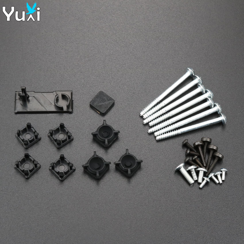 YuXi Plastic Feet Button Screw Cap Cover Set Replacement For Sony Playstation PS3 Slim 2000 3000 Controller
