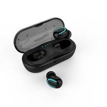 Handsfree sem fio Bluetooth 5.0 Fones De Ouvido Invisíveis Mini TWS Bilateral Chamadas Com Caixa Carregador Mic Para apple iPhone Samsung