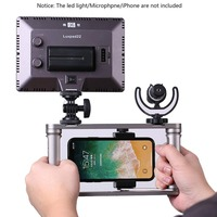 Smartphone Video Rig Camera Handheld Video Microphone Stabilizer Grip Tripod LED Light for iPhone Max X 8 7 Samsung Xiaom GoPro