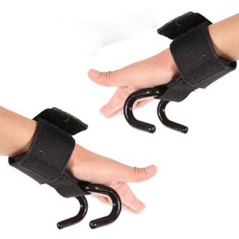 Prix pour 1 pc Poids De Levage Support De Poignet Forte Formation Gym Crochet Grip Strap Poignet Gant de Soutien Pratique Réglable Poignet Bande