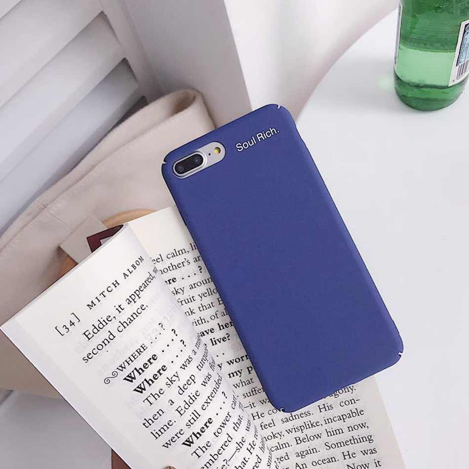 hot sale online 48ddc 048ae For iPhone 7 Case Royal Blue Retro Green Phone Case For iPhone X XS 6 6s 8  Plus Fashion Matte Letter Hard Plastic PC Back Cover