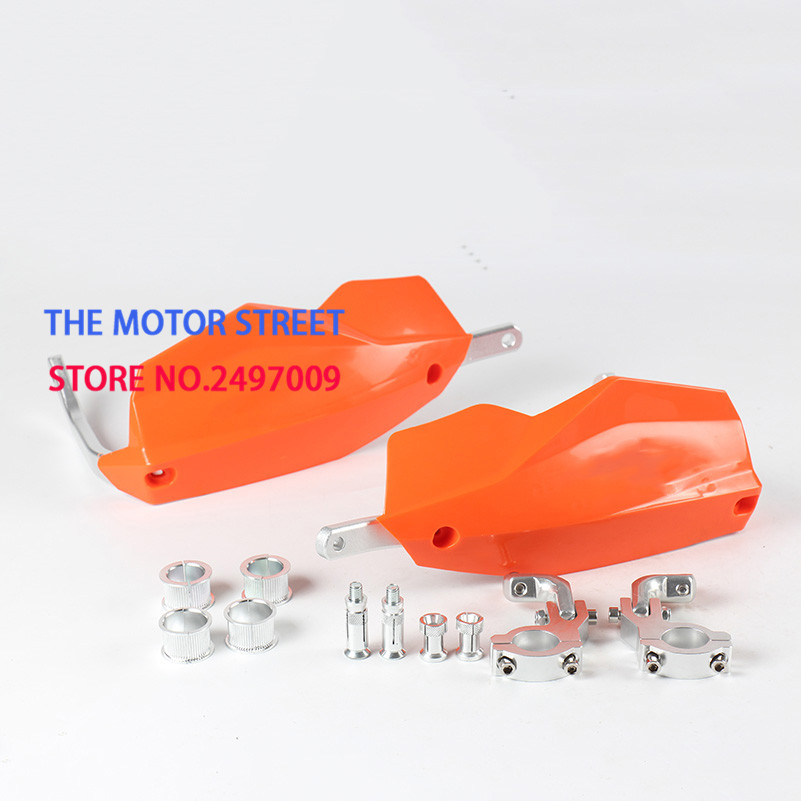 3 colors available black white orange 22mm motorbike parts moto protection motocross hand guard for KTM motorcycle handguard(China)