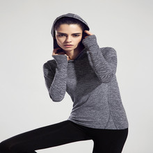 High quality Women Sport Hoodies Running sweater Coat Quick-dry Long-sleeved Sweatshirt Fitness Outerwear Breathable Hoodies