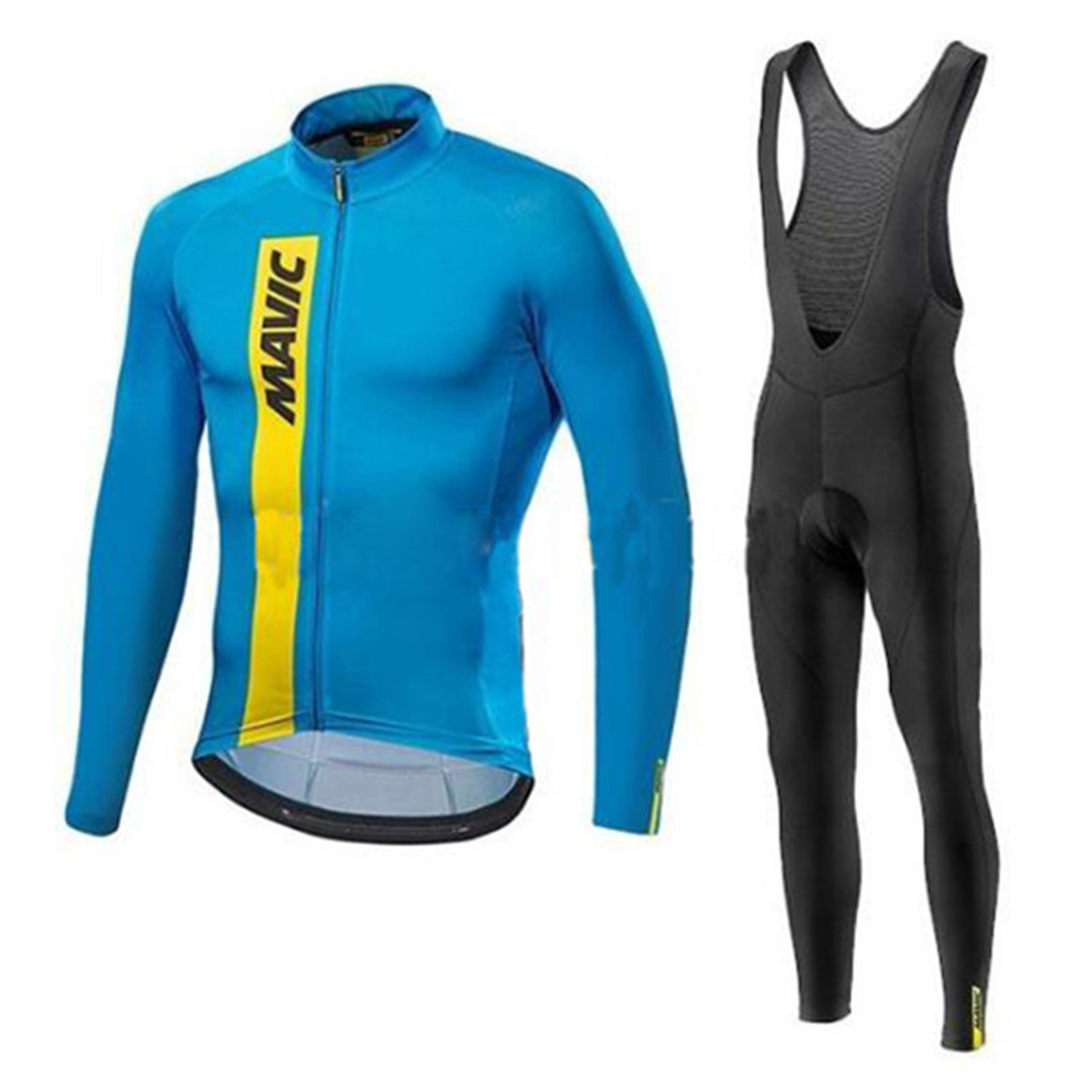 MAVIC New 2017 Breathable Long Sleeves Riding Wear Set Men`s Spring/Autumn Team Cycling Jersey Bicycle Clothing Fast drying