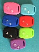 Funda de silicona para el cuidado de la piel, 2 botones, colorida, para Honda CIVIC, JAZZ, piloto, Accord, CR V, carcasa para llave remota