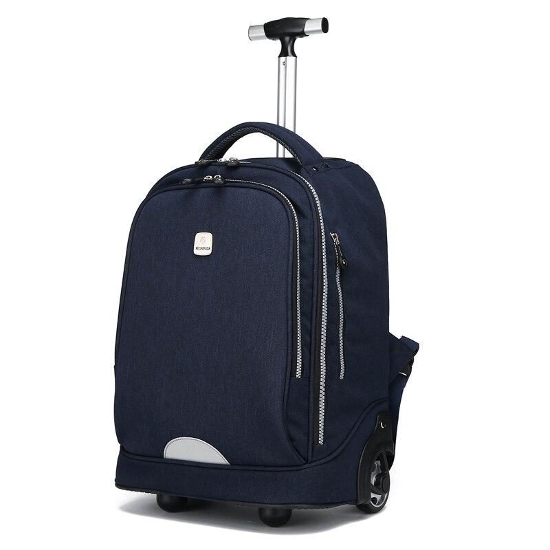 Wielofunkcyjny Rolling bagażu podróży torby na kółkach walizka na kółkach walizka torby walizki wózek na kółkach podróży plecak 2019 w Torby podróżne od Bagaże i torby na  Grupa 1