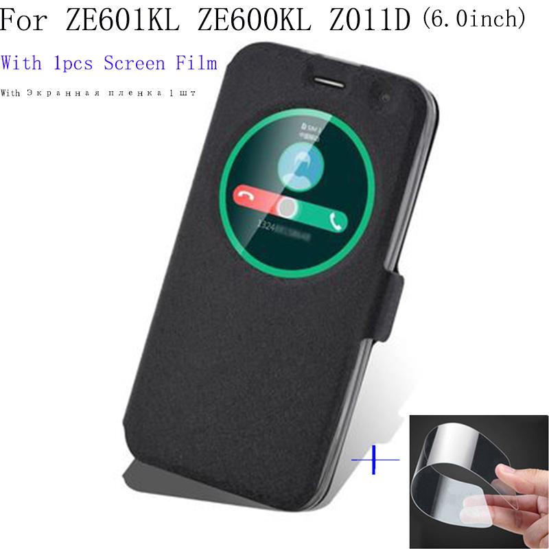 6.0inch Smart View Window Shell For Asus Zenfone2 Laser Ze601kl Ze600kl Z011d Case Cover Flip Pu Leather Phone Cases Back Cover Supplement The Vital Energy And Nourish Yin