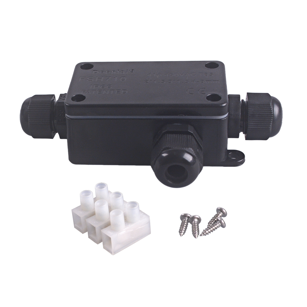 2//3Way Waterproof Electrical Junction Box Cable Connector Wire IP68//IP66 Outdoor