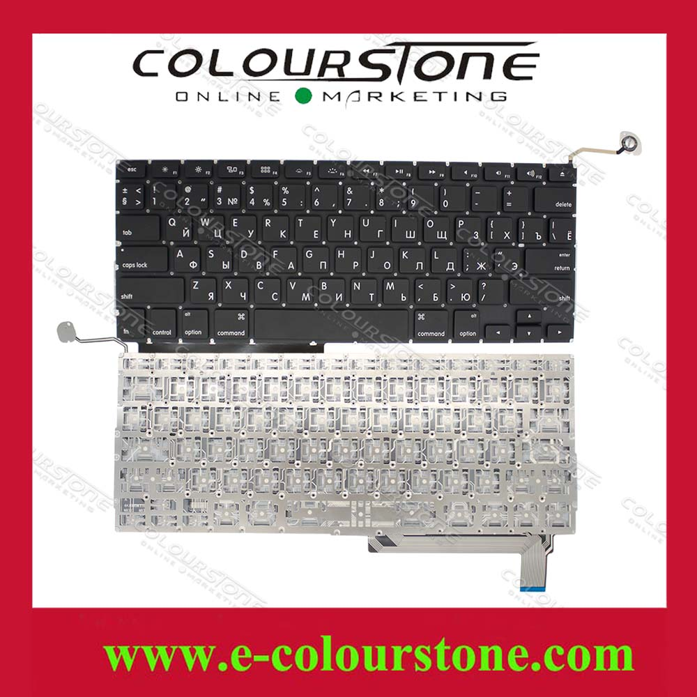 Replacement A1286 Laptop Keyboard For Apple Macbook Air Ru Diagram Layout Black Color With Small Enter